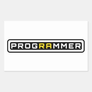 Sticker Rectangulaire Programmeur