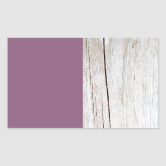 Sticker Rectangulaire Purple + Wood