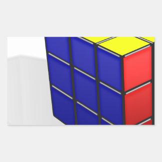 Sticker Rectangulaire Puzzle de cube