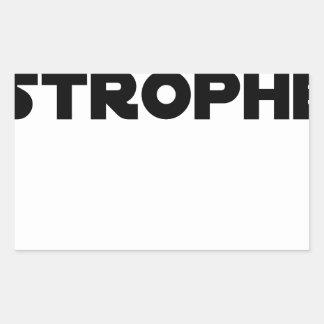 Sticker Rectangulaire QUATAR STROPHE - Jeux de mots - Francois Ville