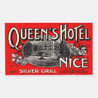 Sticker Rectangulaire Queen's Hotel (Nice)
