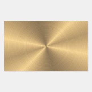 Sticker Rectangulaire Radial métallique personnalisé d'or d'acier