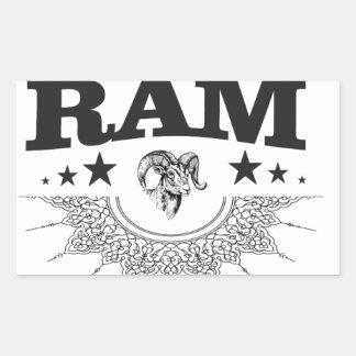 Sticker Rectangulaire RAM de l'étoile noire