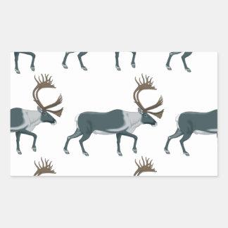 Sticker Rectangulaire Rangées de caribou