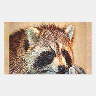 Sticker Rectangulaire Raton laveur du Tennessee