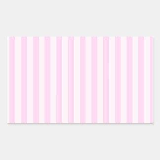 Sticker Rectangulaire Rayures minces - roses et rose-clair