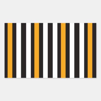 Sticker Rectangulaire rayures noires oranges minces