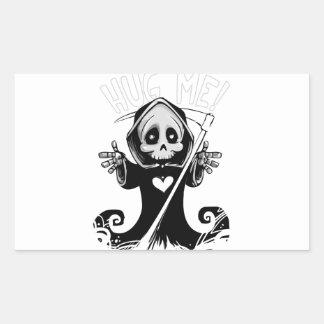 Sticker Rectangulaire Reaper-bébé mignon de Reaper-bande dessinée de