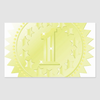 Sticker Rectangulaire récompense d'or