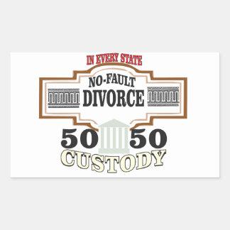 Sticker Rectangulaire réduisez la garde 50 50 automatique de divorces