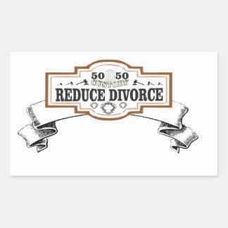 Sticker Rectangulaire réduisez la garde 50 du divorce 50