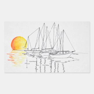 Sticker Rectangulaire Réflexion | Concarneau, la Bretagne de voilier