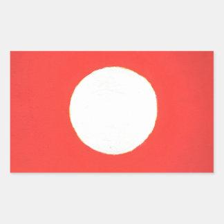 Sticker Rectangulaire Regard fixe chez le Sun