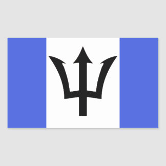 Sticker Rectangulaire République Democratic d'autocollant de Triton