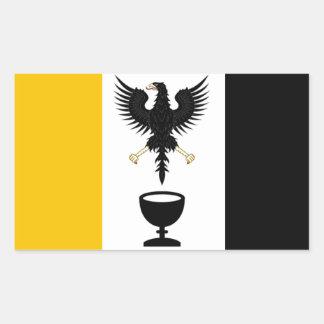 Sticker Rectangulaire République souveraine d'autocollant de Ganymede