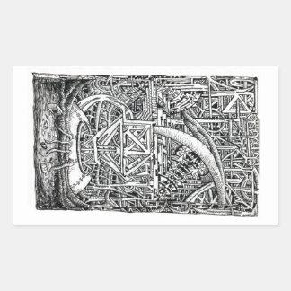 Sticker Rectangulaire Réservoir de tentacule par Brian Benson
