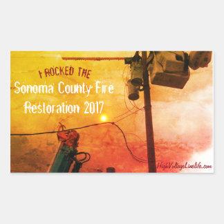 Sticker Rectangulaire Restauration 2017 du feu du comté de Sonoma