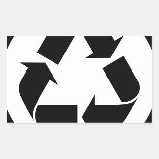Sticker Rectangulaire Réutilisez le symbole