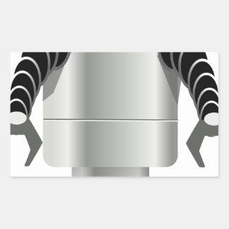 Sticker Rectangulaire Robot