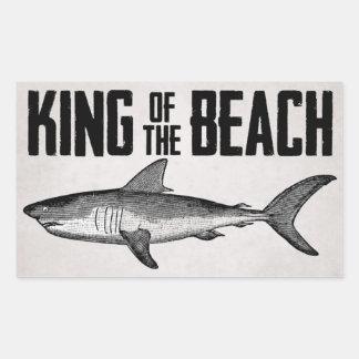 Sticker Rectangulaire Roi vintage de plage de requin