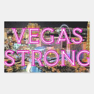 Sticker Rectangulaire Rose fort de Vegas