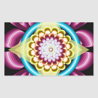 Sticker Rectangulaire Rotations florales