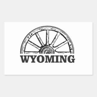 Sticker Rectangulaire roue du Wyoming