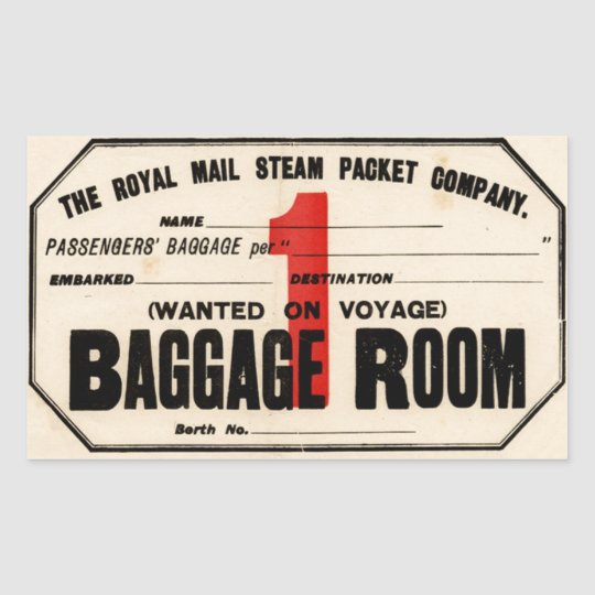 Sticker Rectangulaire Royal Mail Steam Packet Co