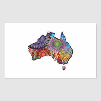 STICKER RECTANGULAIRE ROYAUME AUSTRALIEN