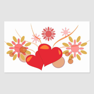 Sticker Rectangulaire saint-valentin