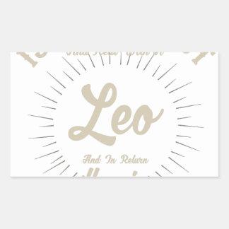Sticker Rectangulaire Saison de Lion