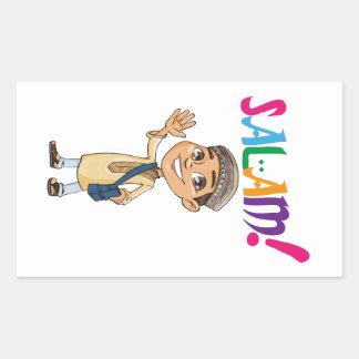 Sticker Rectangulaire SALAM pour garçon