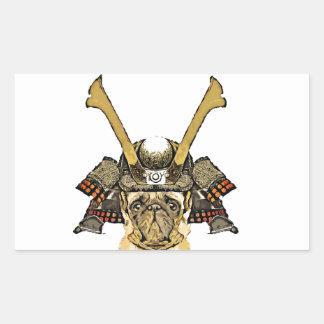 Sticker Rectangulaire samurai_pug