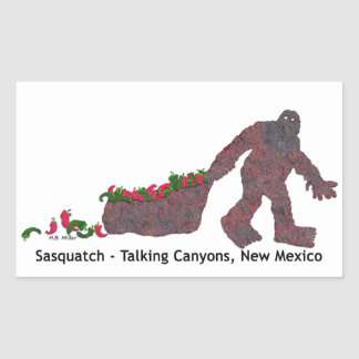 Sticker Rectangulaire Sasquatch