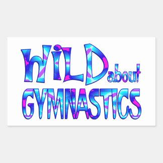 Sticker Rectangulaire Sauvage au sujet de la gymnastique