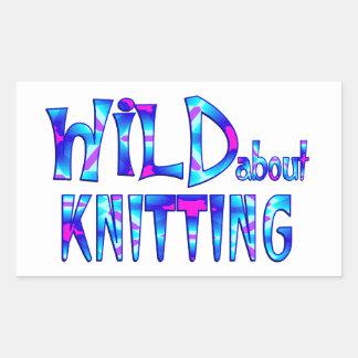 Sticker Rectangulaire Sauvage au sujet du tricot