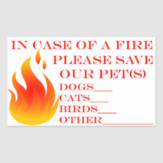 Sticker Rectangulaire Sauvez nos animaux familiers