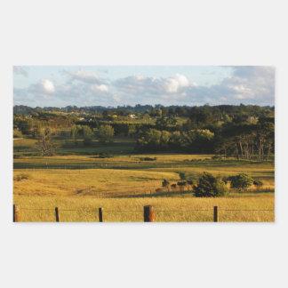 Sticker Rectangulaire Scène d'or de paysage