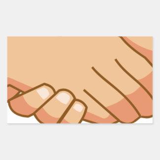 Sticker Rectangulaire Se serrer la main