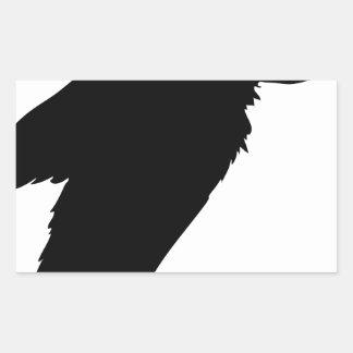 Sticker Rectangulaire Séance de vautour