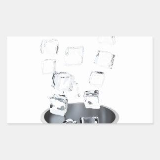 Sticker Rectangulaire Seau à glace