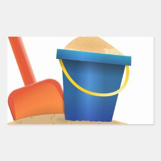 Sticker Rectangulaire Seau de sable