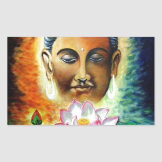 Sticker Rectangulaire seigneur Bouddha