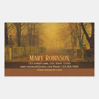 Sticker Rectangulaire Séjour de lueur de soirée dans le contact Atkinson