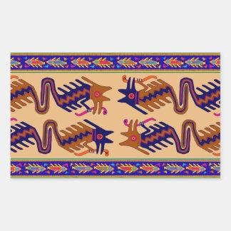 Sticker Rectangulaire Serpent de tribal d'Inca