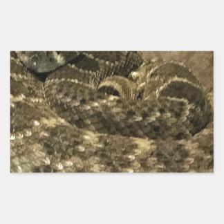 Sticker Rectangulaire Serpent enroulé