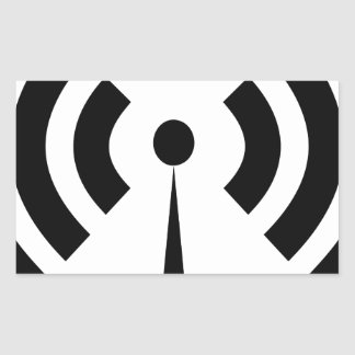 Sticker Rectangulaire Signal de Wifi