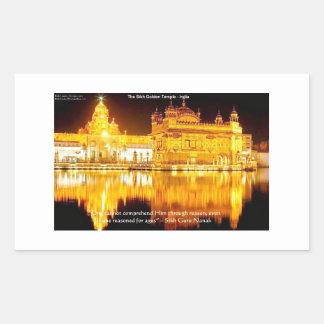 Sticker Rectangulaire Sikh le temple d'or dans les cadeaux et le tee -
