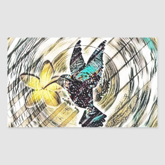 Sticker Rectangulaire Silhouette de colibri