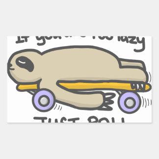 Sticker Rectangulaire Skateboarding de paresse